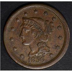 1856 LARGE CENT, XF/AU