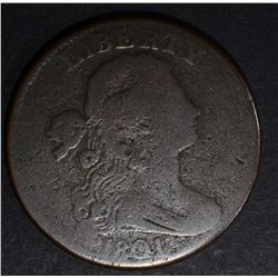 1801 DRAPED BUST LARGE CENT, VG