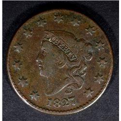 1827 LARGE CENT N-7 R-3 FINE