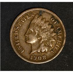 1908-S INDIAN HEAD CENT, FINE