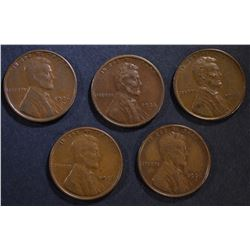5-1926-S LINCOLN CENTS, XF