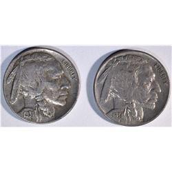 2-1931-S BUFFALO NICKELS, AU