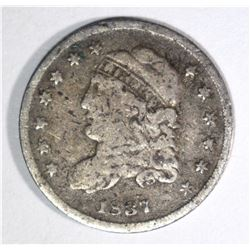 1837 CAPPED BUST HALF DIME VG+
