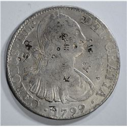1799 MEXICO 8 REALES chopmarked