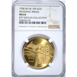 1958 MI HK-709 SO CALLED $1 NGC MS64