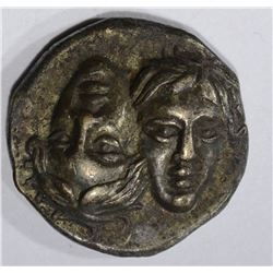 ISTROS 4th-3rd CENTURY BC  COIN 2-FEMALE FACES