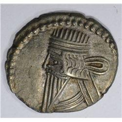 105-147 BC GREEK PARTHIA SILVER DRACHM HIGHER GRAD
