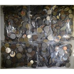 25 POUNDS MIXED FOREIGN COINS GREAT MIX