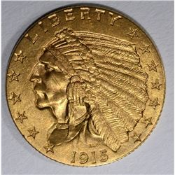 1915 $2 1/2 GOLD INDIAN HEAD