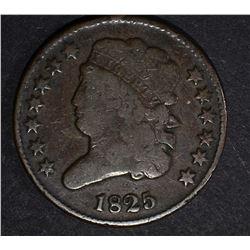 1825 CLASSIC HEAD HALF CENT, FINE