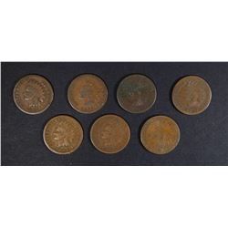 2-1884 & 5-1885 AVE CIRC INDIAN CENTS