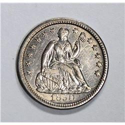 1850 SEATED HALF DIME, CH BU