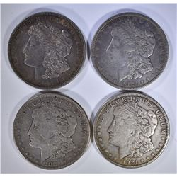 2-1921 & 2-1921-S MORGAN DOLLARS, CIRC OR BETTER