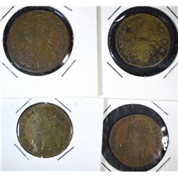 4 - LOUIS XVI JETON TOKENS - 1700's