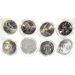 UNC COMMEM HALF DOLLAR LOT: COINS & CAPSULES
