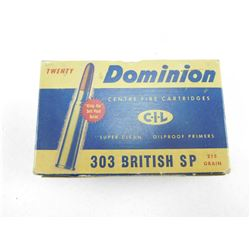 ASSORTED ANTIQUE 303 BRITISH AMMO