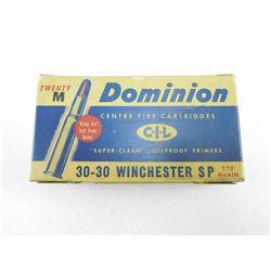 DOMINION 30-30 WINCHESTER AMMO
