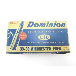 DOMINION 30-30 WINCHESTER PNEUMATIC AMMO