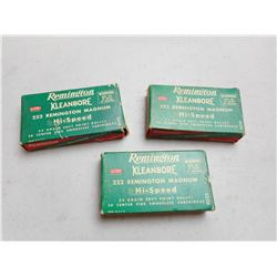 REMINGTON KLEANBORE 222 REM MAG AMMO