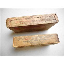 REMINGTON 33 WINCHESTER AMMO & BOX