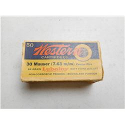 WESTERN 7.63MM (.30) MAUSER AMMO