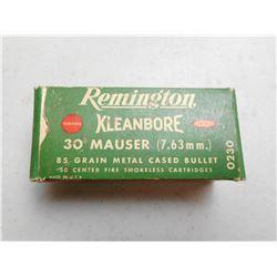 REMINGTON 7.63MM (.30) MAUSER AMMO