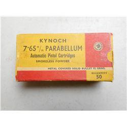 KYNOCH 7.65 MM PARABELLUM AMMO