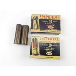 ANTIQUE IMPERIAL 20 GA & 16 GA AMMO