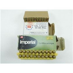 ASSORTED 222 REM & 5.56MM BALL AMMO