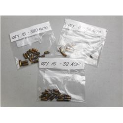 ASSORTED PISTOL  AMMO