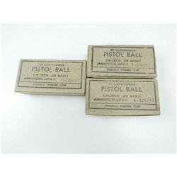 45 ACP PISTOL BALL AMMO