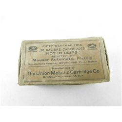 U.M.C. .30 CAL MAUSER AMMO