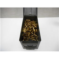 ASSORTED 7.62/308 WIN BRASS IN AMMO TIN