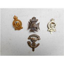 ASSORTED BRITISH ARMY CAP BADGES