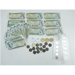 ASSORTED VINTAGE CANADIAN MONEY