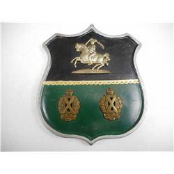 SCOTTISH HORSE REGIMENT PLAQUE