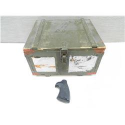 WOODEN AMMO BOX & HANDGUN GRIPS