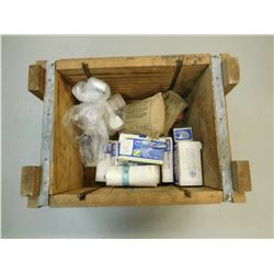 CRATE OF FIRST AID SUPPLIES