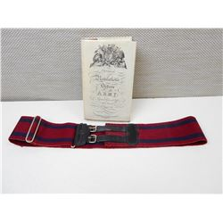 BRITISH MILITARY HARDCOVER BOOK & BELT