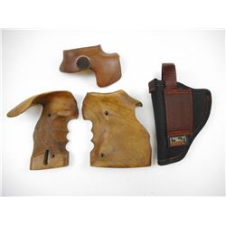 WOODEN GRIPS & HOLSTER
