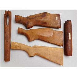 WOOD CARVED GUN PARTS