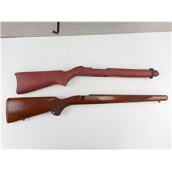 ASSORTED WOODEN GUN STOCKS FOR 10/22