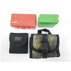ASSORTED AMMO CASES & POUCHES