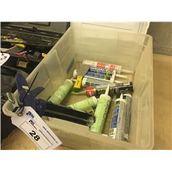 BOX OF CAULKING AND GUN