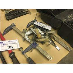 LOT OF ASSORTED SMALL CLAMPS
