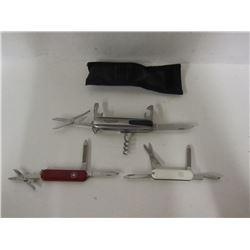 THREE MULTI-TOOL KNIVES