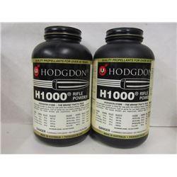 2 BOTTLES HODGDON H1000 SMOKELESS RIFLE POWDER