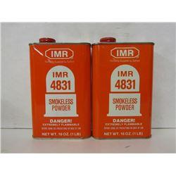 2 CANS IMR 4831 SMOKELESS POWDER