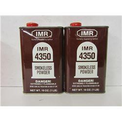 2 CANS IMR 4350 SMOKELESS POWDER