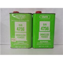 2 CANS DU PONT SR 4756 SMOKELESS POWDER